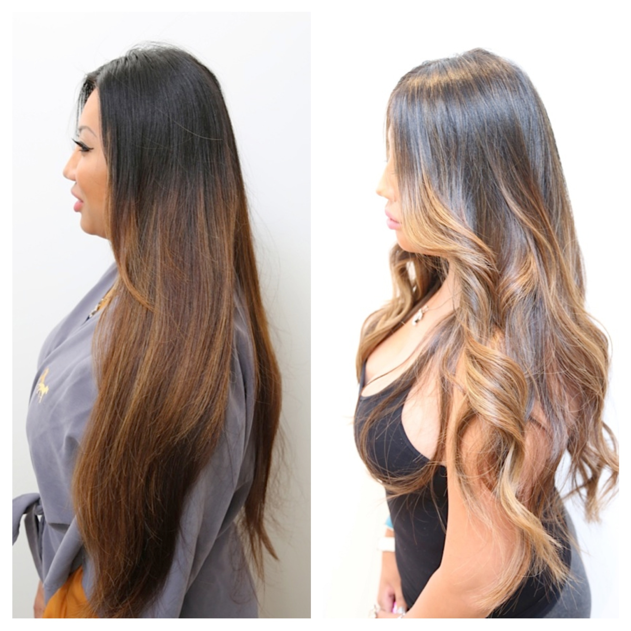 Caramel Highlights Hair Color Rehab