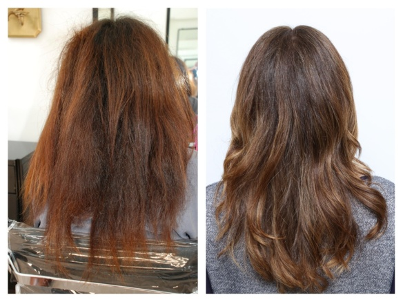 red hair correction