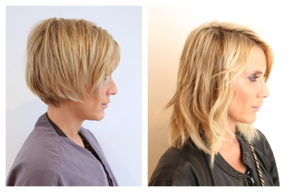 how to put clip in hair extensions in pixie cut