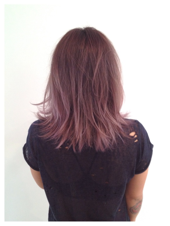 how to get smokey purple hair