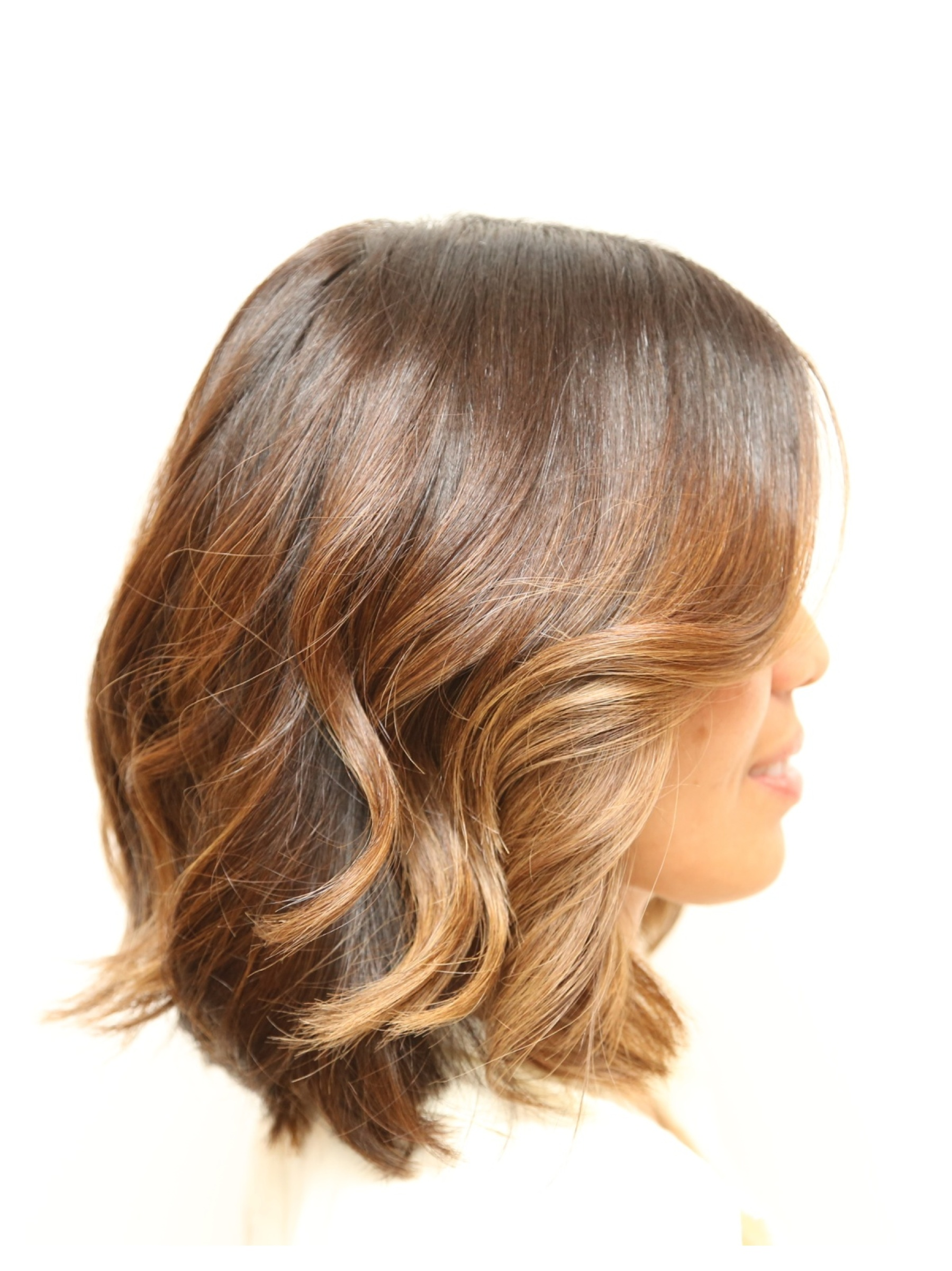 wavy sun-kissed bob – Hair Color Rehab